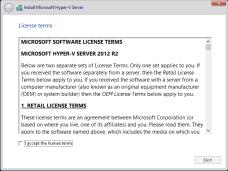 hyper-v Accept License Agreement