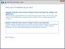 hyper-v Choose Custom Installation