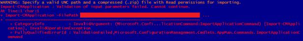 import-cmapplication